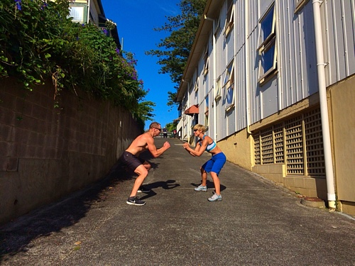Lateral squat lunge